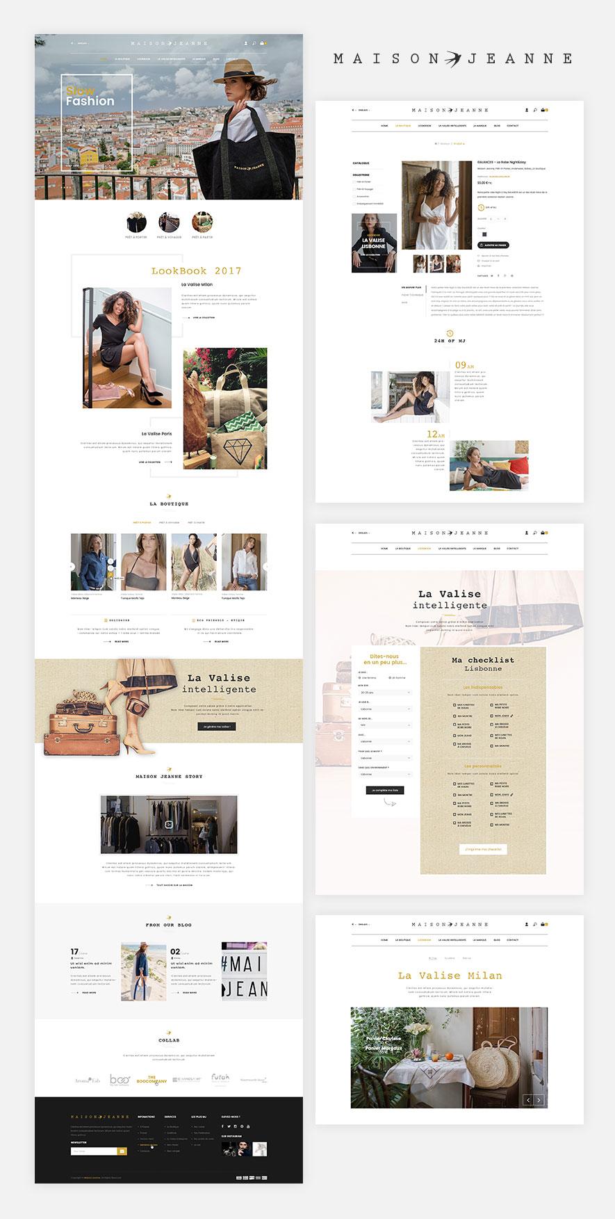 maison jeanne, e-commerce, web design