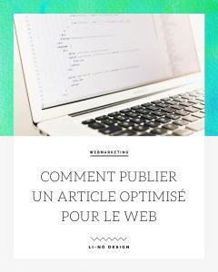 article optimisé pour le web