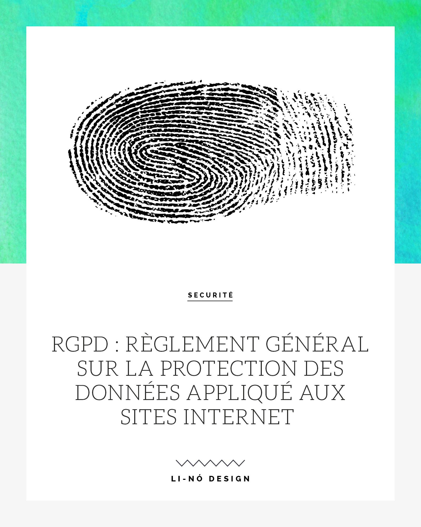 RGPD - Protection des Données appliqué aux sites Internet
