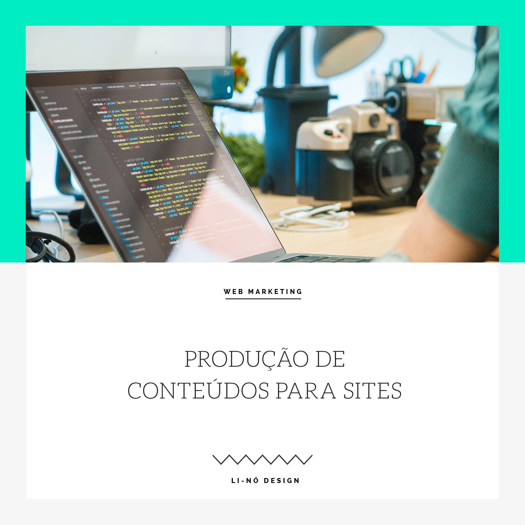 produção de conteúdos