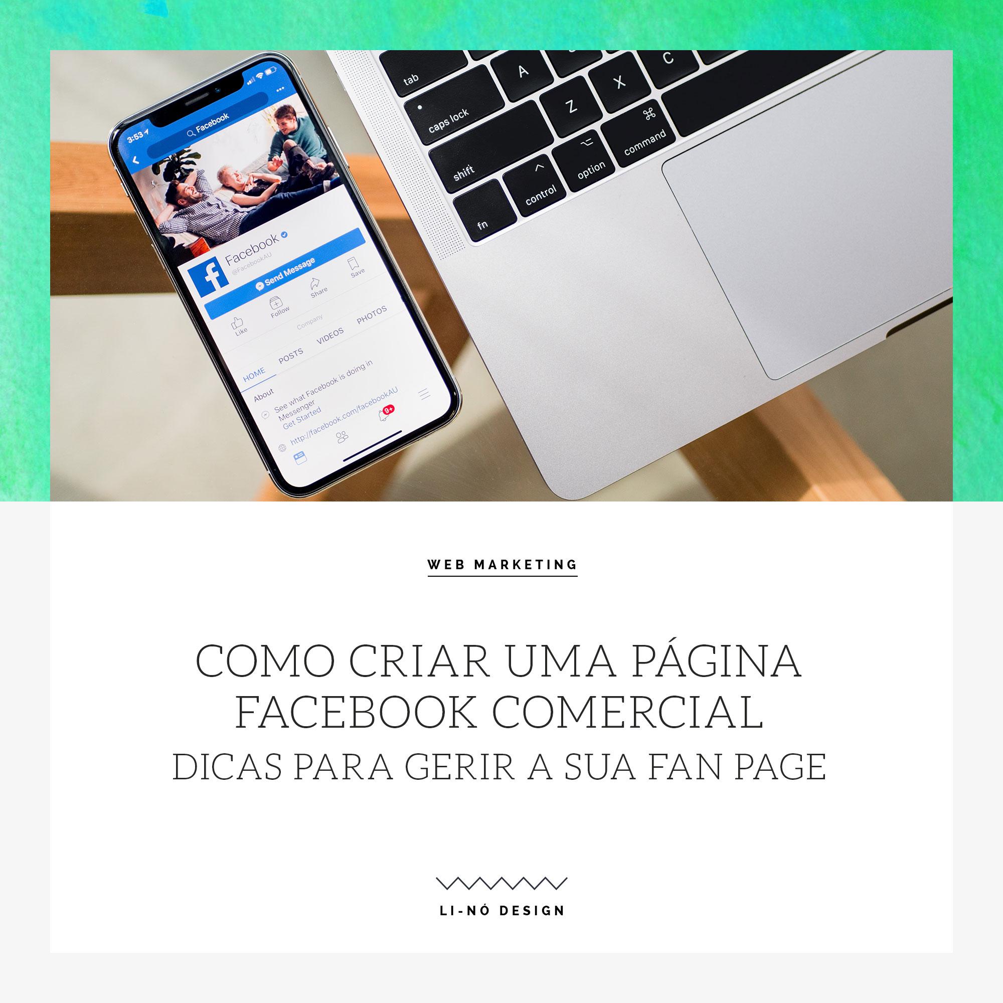 como criar uma página facebook