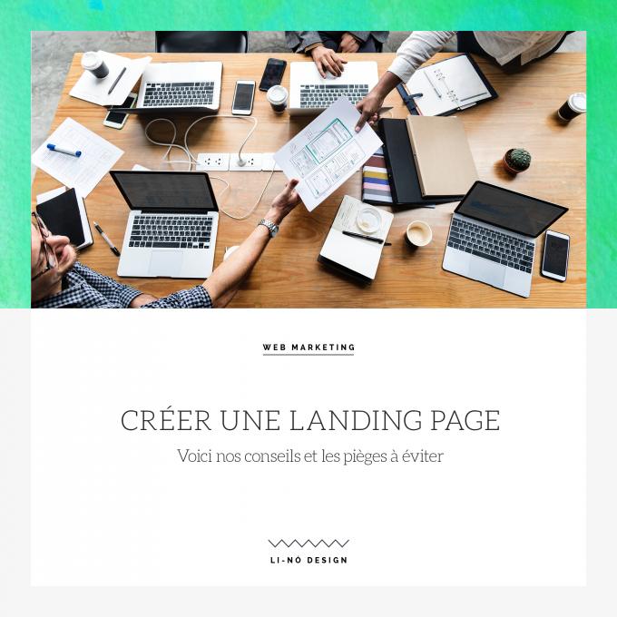 Créer une Landing page