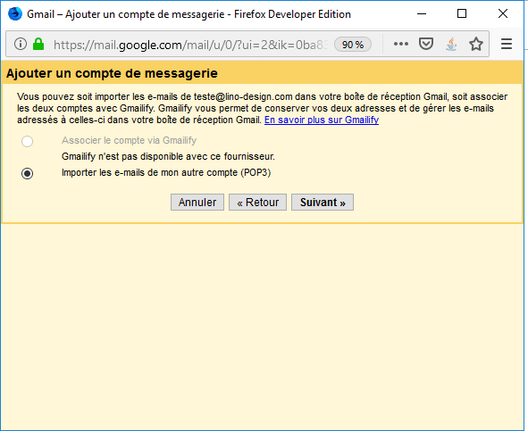 importation Gmail 2