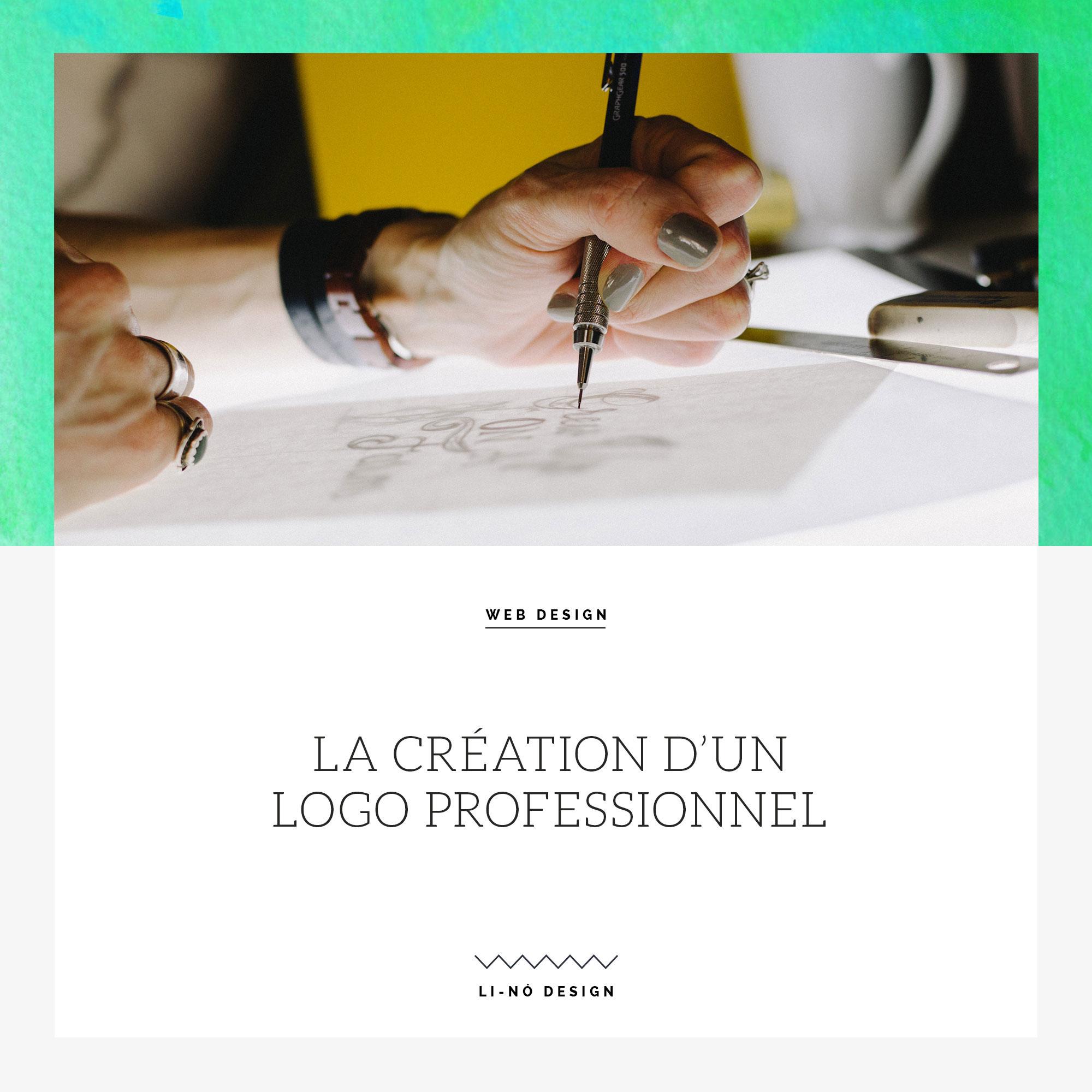 La création d'un logo professionnel