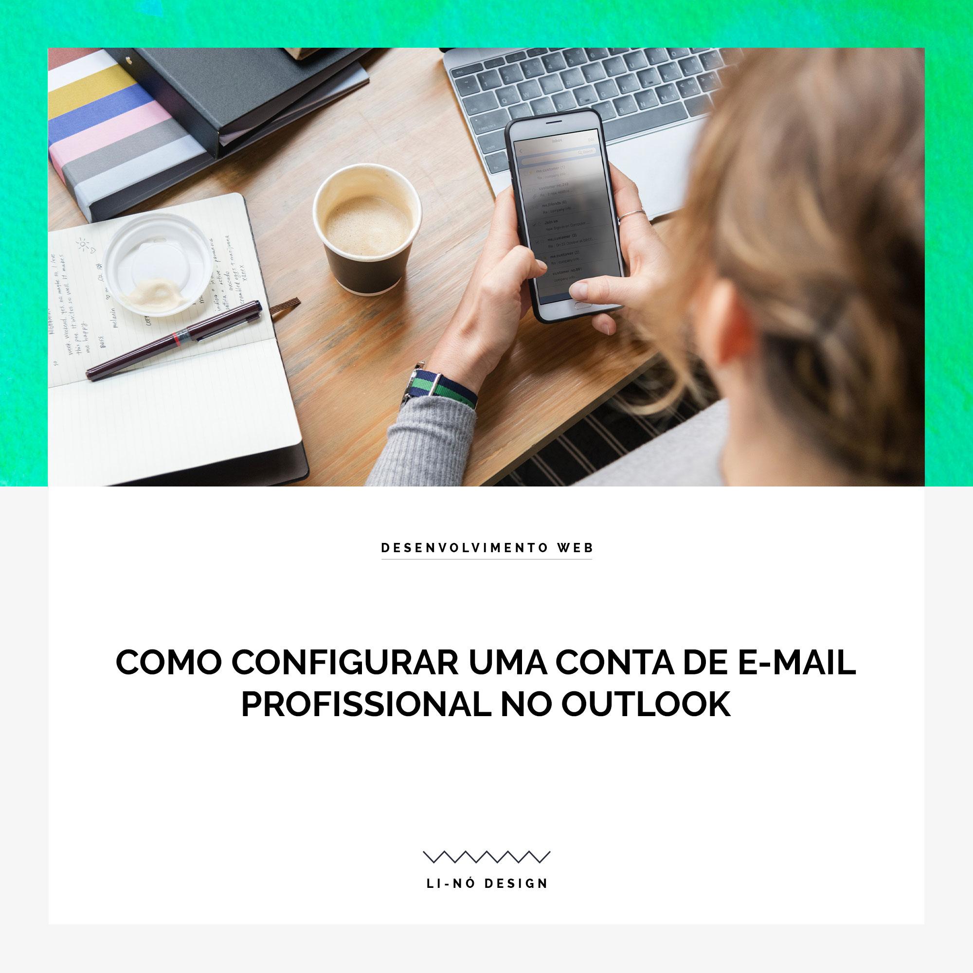 Configurar conta de email com outlook