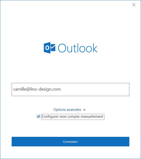 Outlook Ajouter un compte