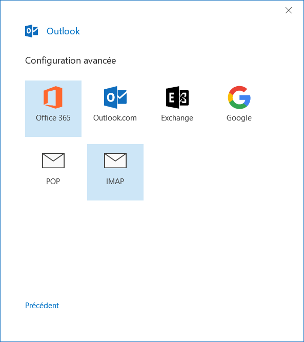 Outlook - IMAP