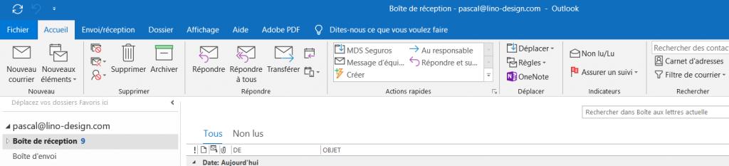 configurer outlook - fichier