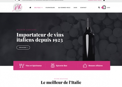 Maison Cassano – Site e-commerce