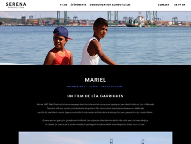 Serena Productions – Site web