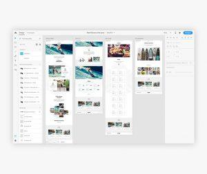 Le coût du Web Design - Prototype Adobe XD