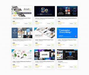 Le coût du Web Design - Achat d'un template