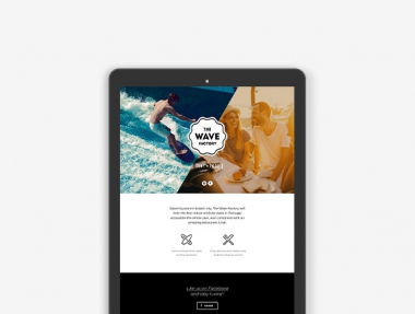 The Wave Factory – Landing Page