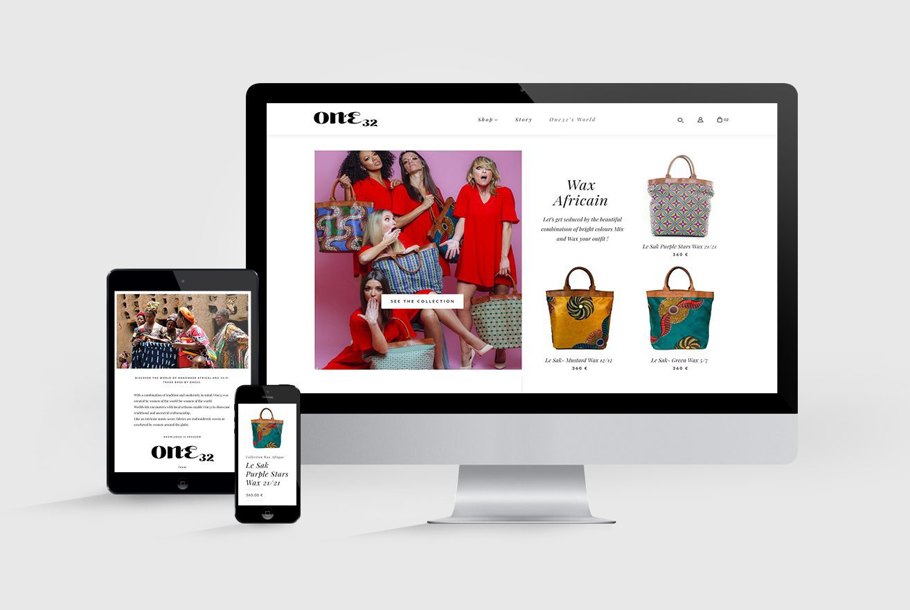 One 32 - Site e-commerce - Li-Nó Design