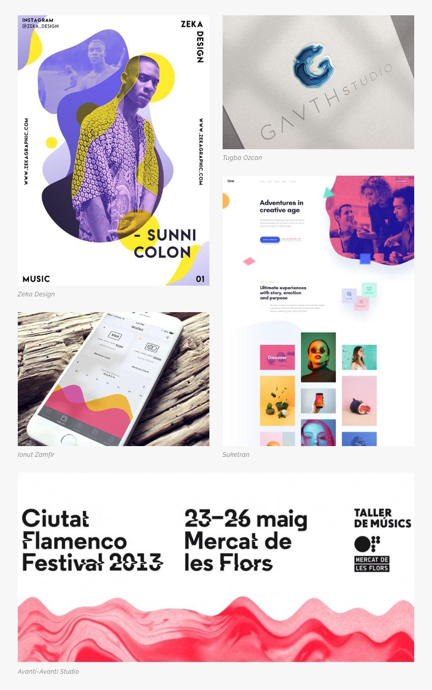 Les 5 tendances en design graphique pour la rentrée 2019 Li-Nó Design - formes organiques