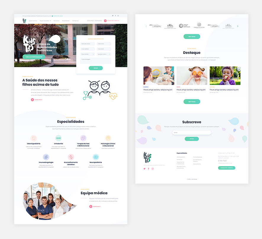 Kids and Teens - webdesign - Li-Nó Design