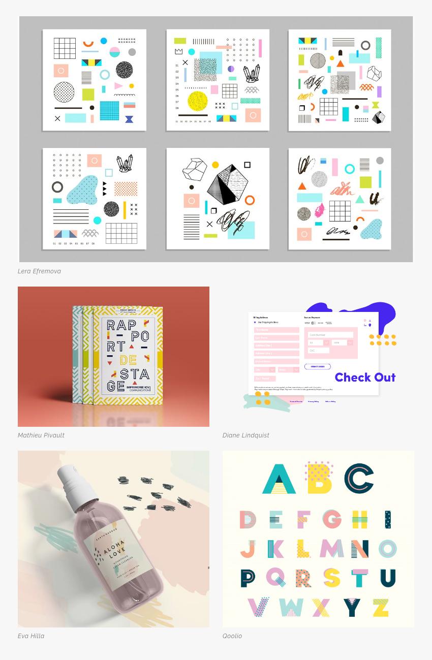Les 5 tendances en design graphique pour la rentrée 2019 Li-Nó Design - Memphis Design