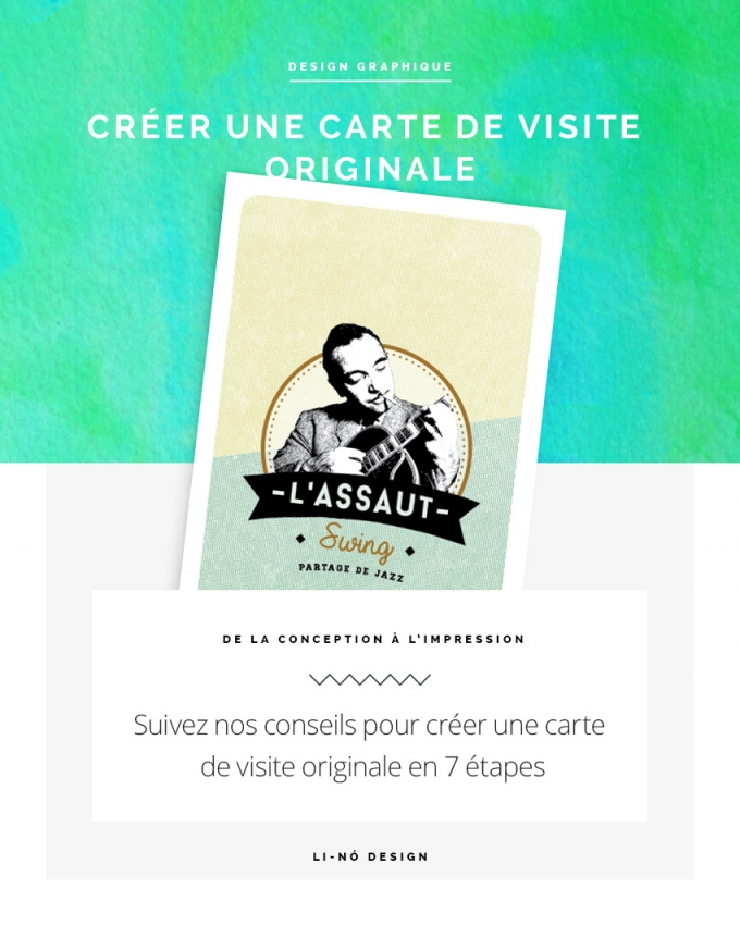 Créer une carte de visite originale - Li-Nó Design
